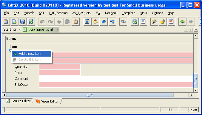 editix xml editor 2010